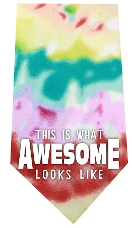 This is what Awesome Looks Like Screen Print Bandana Tie Dye