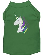 Unicorns Rock Embroidered Dog Shirt Green Med (12)