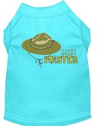 Scout Master Embroidered Dog Shirt Aqua Lg (14)