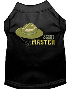 Scout Master Embroidered Dog Shirt Black Sm (10)