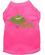 Scout Master Embroidered Dog Shirt Bright Pink Sm (10)