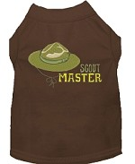 Scout Master Embroidered Dog Shirt Brown Sm (10)