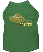 Scout Master Embroidered Dog Shirt Green Sm (10)