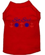 Set Sail Embroidered Dog Shirt Red Sm (10)