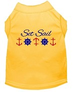 Set Sail Embroidered Dog Shirt Yellow Med (12)