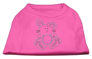 Bunny Rhinestone Dog Shirt Bright Pink Med (12)