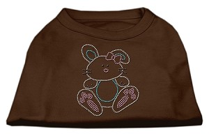 Bunny Rhinestone Dog Shirt Brown Med (12)