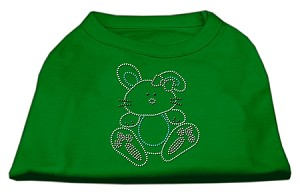 Bunny Rhinestone Dog Shirt Emerald Green XXXL (20)