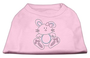 Bunny Rhinestone Dog Shirt Light Pink Lg (14)
