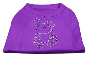 Bunny Rhinestone Dog Shirt Purple XXL (18)
