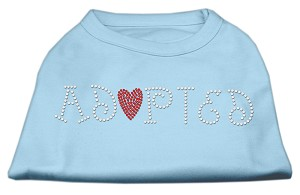 Adopted Rhinestone Shirt Baby Blue XL (16)