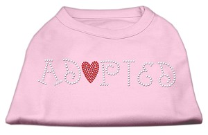 Adopted Rhinestone Shirt Light Pink XXXL(20)