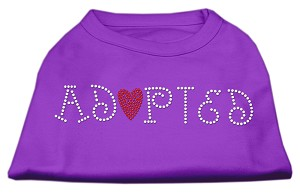 Adopted Rhinestone Shirt Purple L (14)