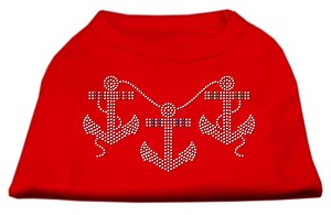 Rhinestone Anchors Shirts Red XXL (18)