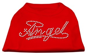 Angel Rhinestud Shirt Red S (10)