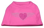 Aviator Rhinestone Shirt Bright Pink S (10)