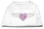 Aviator Rhinestone Shirt White XS (8)