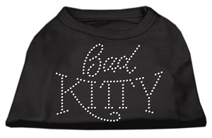 Bad Kitty Rhinestud Shirt Black L (14)