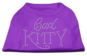 Bad Kitty Rhinestud Shirt Purple M (12)