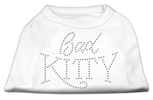 Bad Kitty Rhinestud Shirt White XL (16)