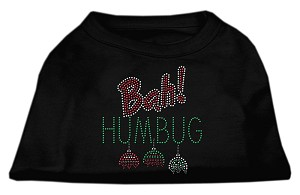 Bah Humbug Rhinestone Dog Shirt Black XL (16)
