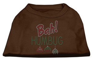 Bah Humbug Rhinestone Dog Shirt Brown XL (16)