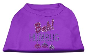 Bah Humbug Rhinestone Dog Shirt Purple Med (12)