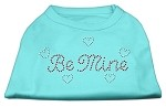 Be Mine Rhinestone Shirts Aqua XS (8)