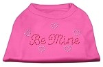 Be Mine Rhinestone Shirts Bright Pink XS (8)