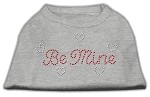 Be Mine Rhinestone Shirts Grey XS (8)