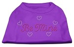 Be Mine Rhinestone Shirts Purple XS (8)