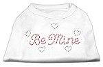 Be Mine Rhinestone Shirts White XS (8)