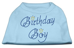 Birthday Boy Rhinestone Shirts Baby Blue S (10)
