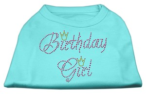 Birthday Girl Rhinestone Shirt Aqua XXXL(20)