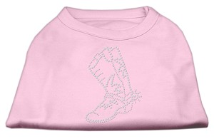 Rhinestone Boot Shirts Light Pink L (14)