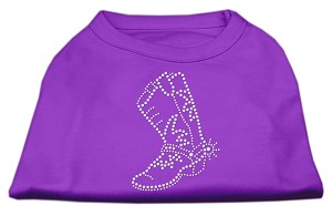 Rhinestone Boot Shirts Purple M (12)