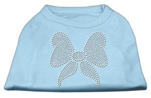 Rhinestone Bow Shirts Baby Blue XL (16)