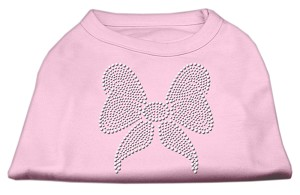 Rhinestone Bow Shirts Light Pink XXXL(20)
