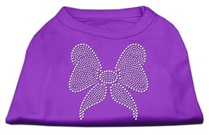 Rhinestone Bow Shirts Purple XS (8)