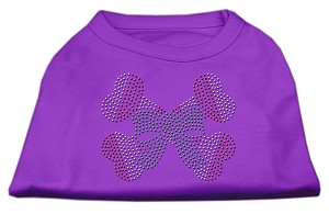 Candy Cane Crossbones Rhinestone Shirt Purple M (12)