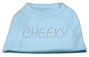 Cheeky Rhinestone Shirt Baby Blue M (12)