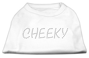 Cheeky Rhinestone Shirt White L (14)