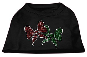 Christmas Bows Rhinestone Shirt Black L (14)