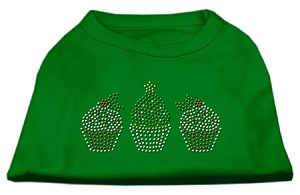 Christmas Cupcakes Rhinestone Shirt Emerald Green XL (16)
