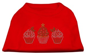 Christmas Cupcakes Rhinestone Shirt Red S (10)