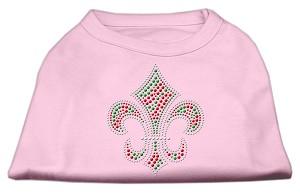 Holiday Fleur de lis Rhinestone Shirts Light Pink XXL (18)