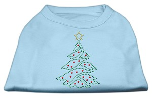 Christmas Tree Rhinestone Shirt Baby Blue S (10)