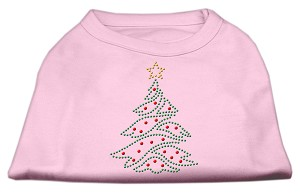 Christmas Tree Rhinestone Shirt Light Pink M (12)