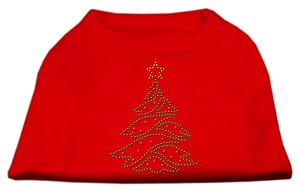 Christmas Tree Rhinestone Shirt Red L (14)
