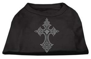 Rhinestone Cross Shirts Black XXXL(20)
